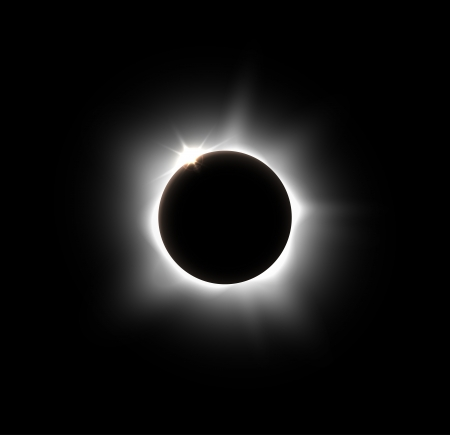 eclipse: Solar eclipse, vector  Eps 10