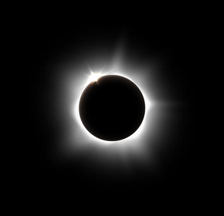 Zatmění slunce, vektor eps 10