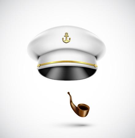 Sailor Zubehör Hut und Pfeife, eps 10