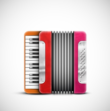 Isolated colorful accordion Stock Vector - 19328217