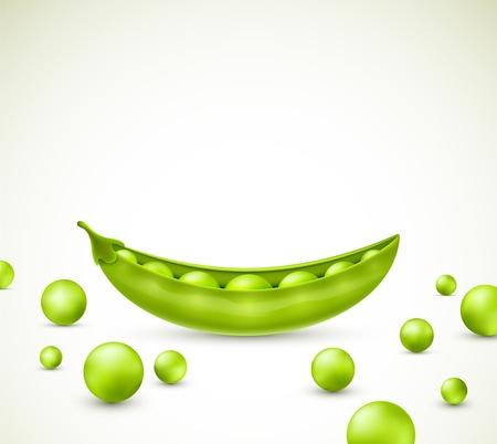 pods: Green peas, vector