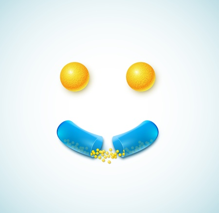 Smile of pills Vector