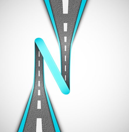Road loop, vector