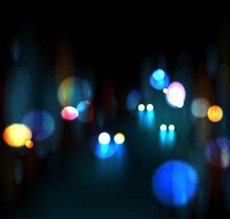 nightlife: City nightlife, neon light  Illustration