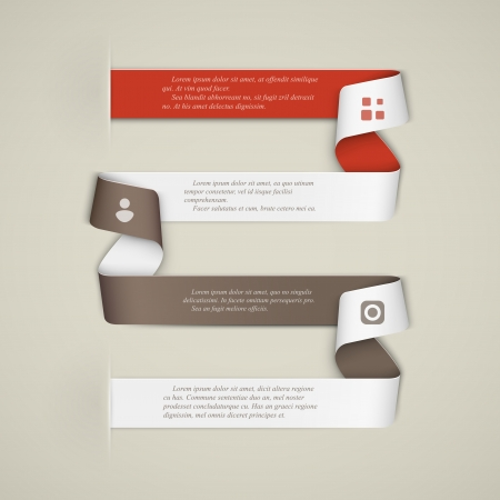 Creative template banner, infographics  Stock Vector - 19665410