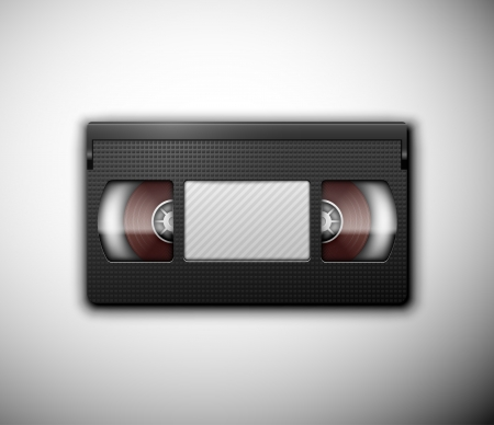 video cassette tape: Isolated realistic videotape