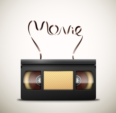 videocassette: Movie on videotape