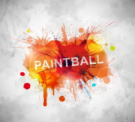Barevné paintball banner Ilustrace
