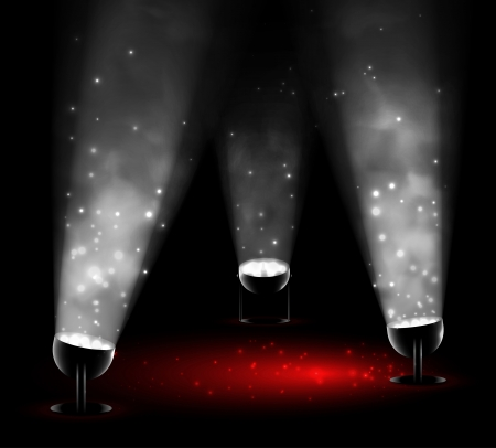 spotlights: La luz de tres focos