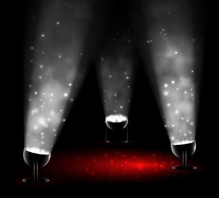 Licht von drei Strahlern Illustration