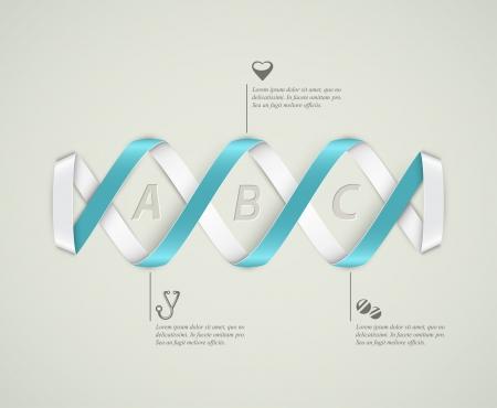 zdraví: DNA banner, lékařské infografiky Ilustrace