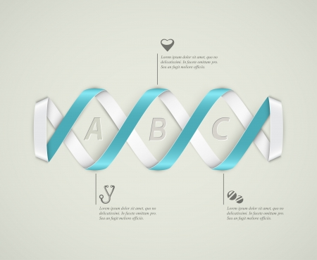 DNA banner, medical infographics Vector