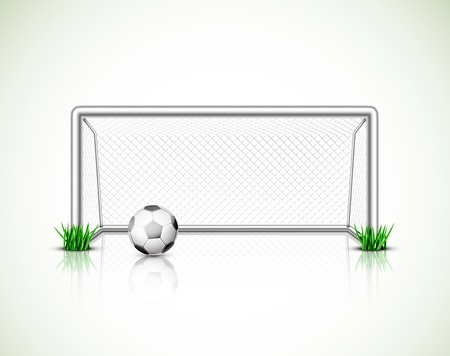 Geïsoleerde voetbal doel en de bal