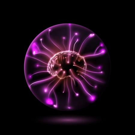 球の脳  イラスト・ベクター素材