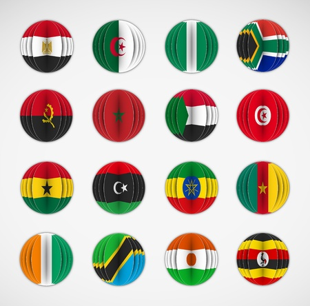Set of flags  Africa Vector