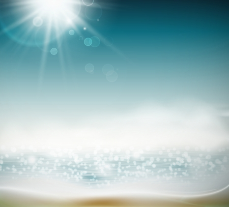 sun beach: Beach in sun, nature background. Eps 10