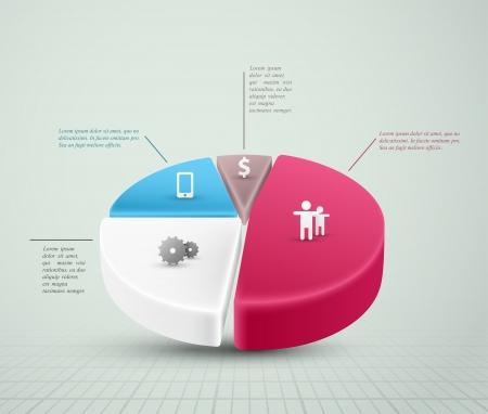 円グラフ、インフォ グラフィック要素。Eps 10  イラスト・ベクター素材
