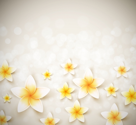花の背景。図に透明性と効果のブレンドが含まれています  イラスト・ベクター素材