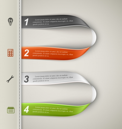Banner template, infographics elements. Illustration contains transparency and blending effects Vector