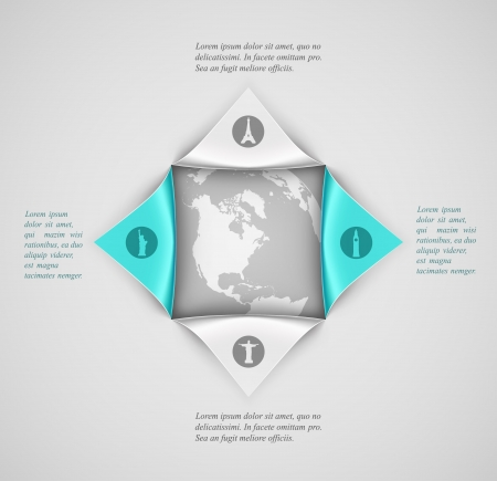 Banner template, travel infographic. Illustration contains transparency and blending effects Vector