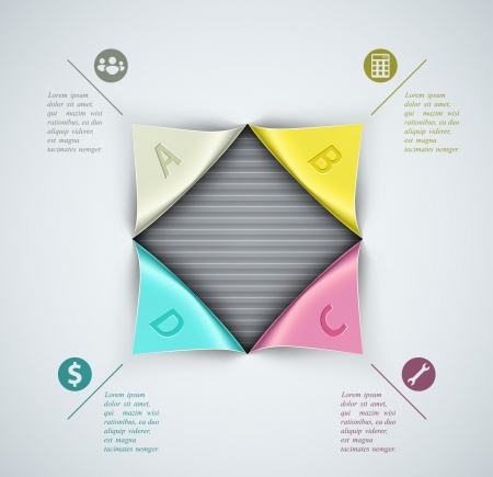Creative banner, infographics elements. Illustration contains transparency and blending effects Vector