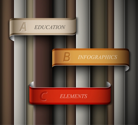 Education banner, infographics elements. Illustration contains transparency and blending effects Stock Vector - 20920816