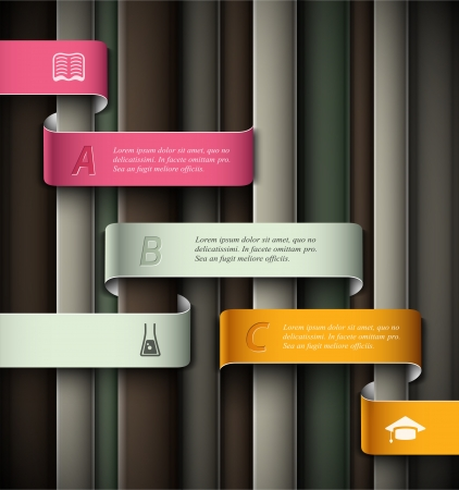 Education infographic, banner template. Illustration contains transparency and blending effects Stock Vector - 20920825