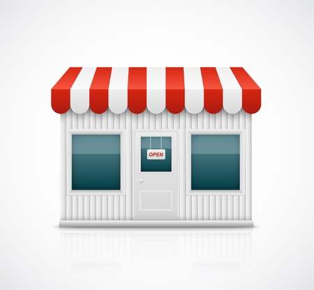 awnings: Isolated business stall Illustration