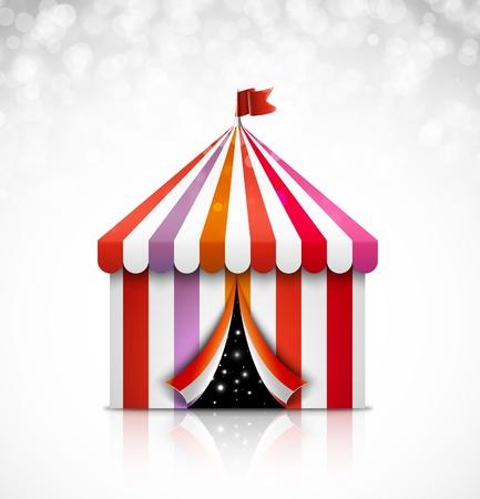 circus arena: Open circus tent