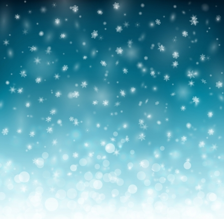 Winter background with snowflakes Çizim