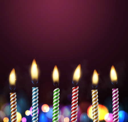 lit candles: Birthday background with candles, eps 10