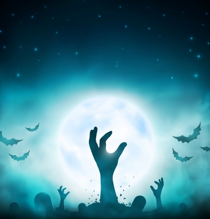 Evil dead, halloween background, eps 10 Vector
