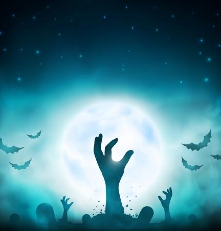 cementerios: Evil muertos, halloween fondo, EPS 10 Vectores