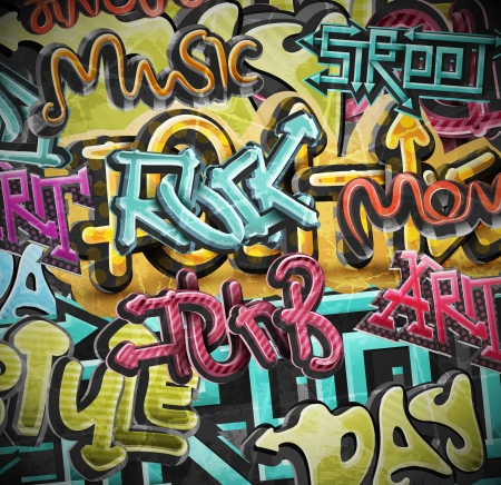 Graffiti grunge background, eps 10 Vector