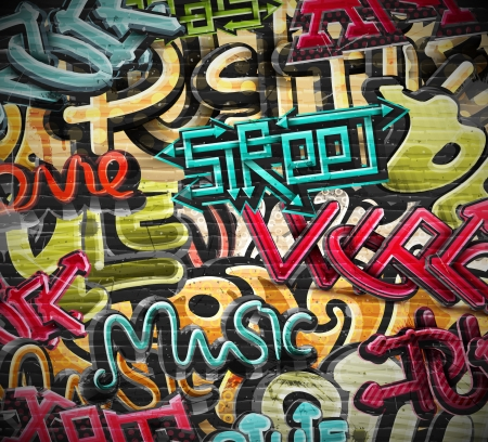 Graffiti grunge texture, eps 10 Illustration