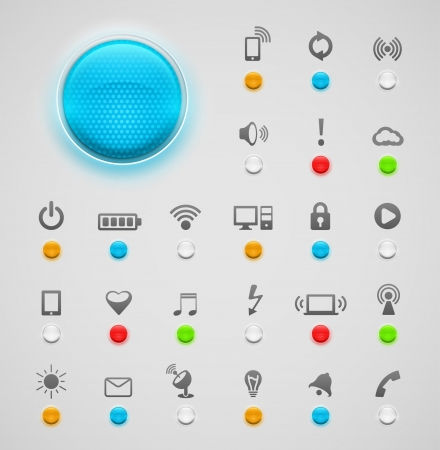 Light signal with icons, eps 10 Stock Vector - 21574868