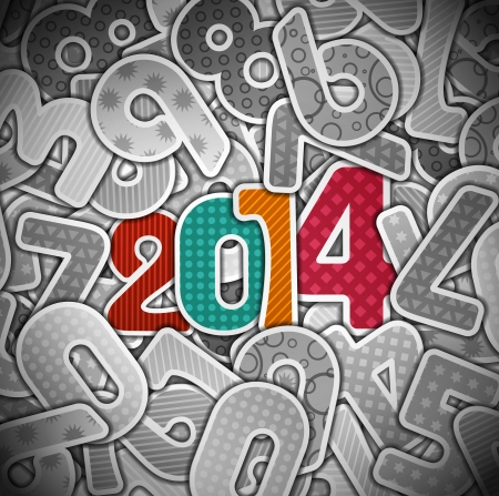 New 2014 year, eps 10 Stock Vector - 21574870