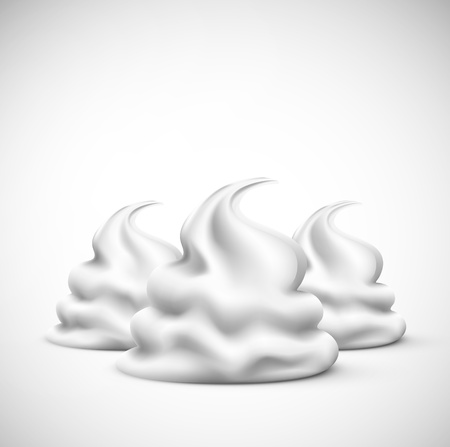 cream: Isolated whipped cream, eps 10