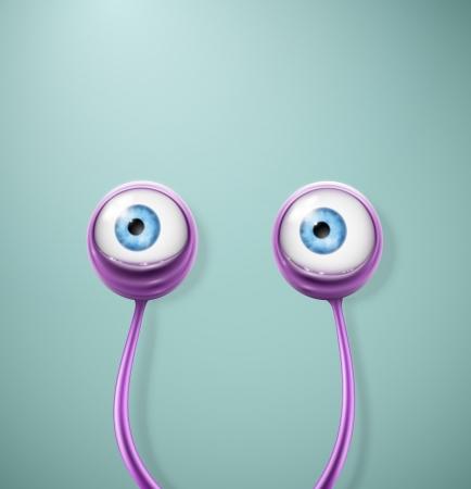 eyes: Purple cartoon eyes, eps 10