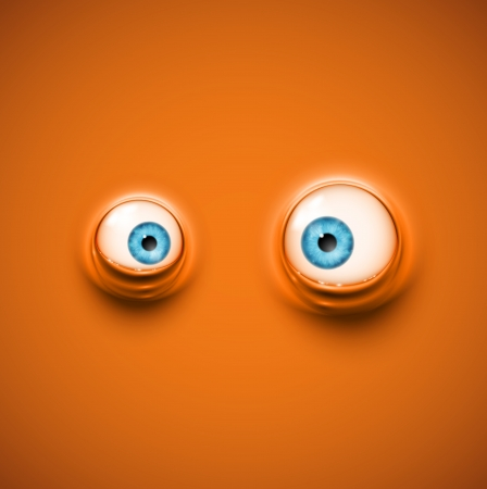 Background with cartoon eyes, eps 10 Vector