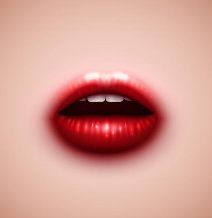 Background with lips, eps 10 Vector