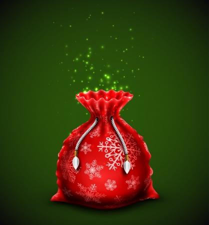 Christmas bag with gifts, eps 10 Vector
