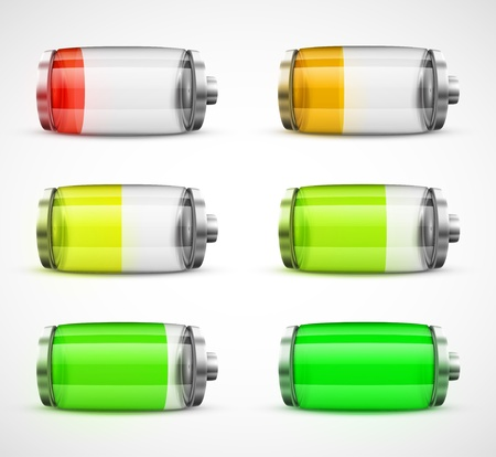Set of batteries, eps 10 Vector