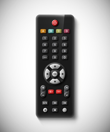tv remote: Isolated TV remote, eps 10