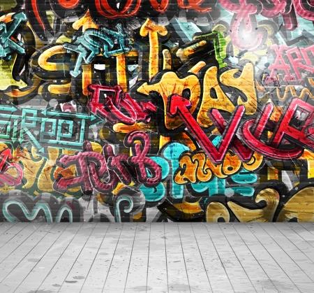 Graffiti na parede, eps 10 Foto de archivo - 22720020