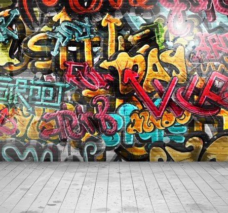 Graffiti on wall, eps 10