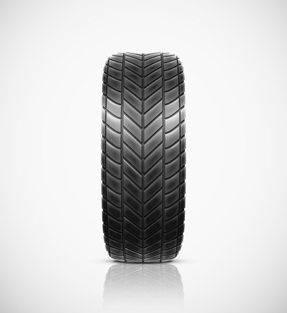 Isolated car tire, eps 10 Vector