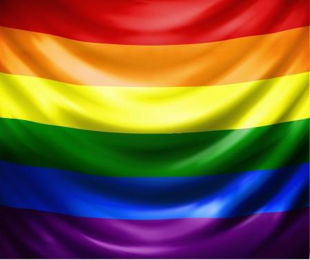 rainbow flag: Waving rainbow flag, eps 10