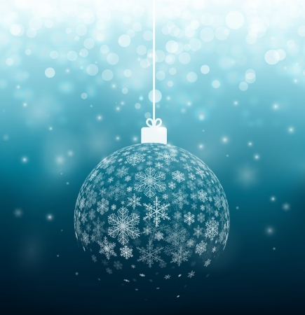 Christmas ball from snowflakes, eps 10 Çizim