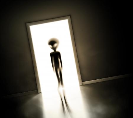 Alien an der Tür